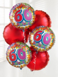 60th Balloon Bouquet