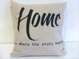Home- Is Where The Story Begins Cushion