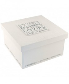 Christening Box - White